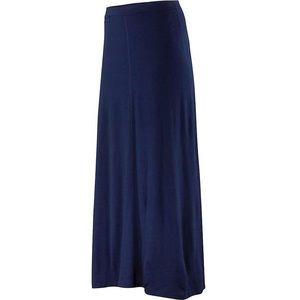 Ibex Bridget 100% Merino Wool Long Skirt Blue
